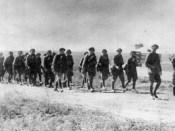 1941 coloană de vânători de munte în marş spre Odessa