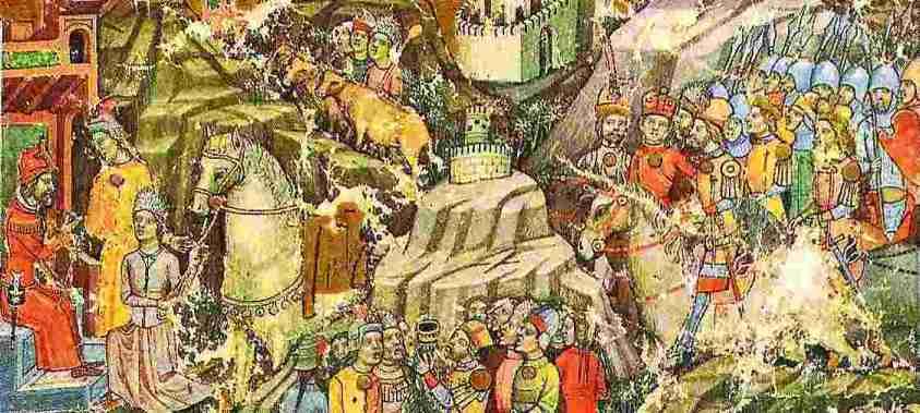 Această imagine are atributul alt gol; numele fișierului este venirea-ungurilor-cronica-pictata-de-la-Viena.jpg