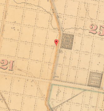 Map of Fairhill, 1862