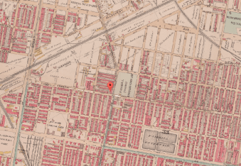 Map of Fairhill, 1895