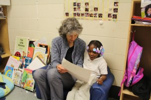 Reading together at a local school