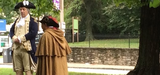 Two actors at the Revolutionary Germantown Festival