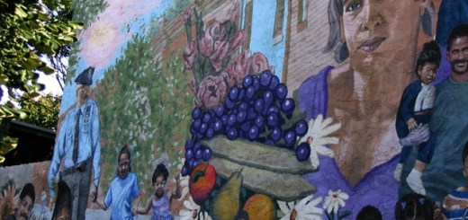 The mural at 9th and Indiana Streets, featuring HFH Board Member Peaches Ramos