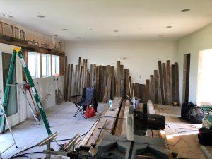Barnwood wall project