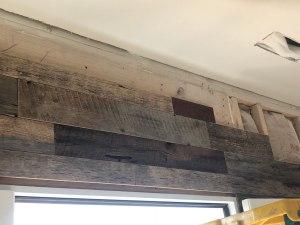Gatlinburg TN barnwood accent wall Patina