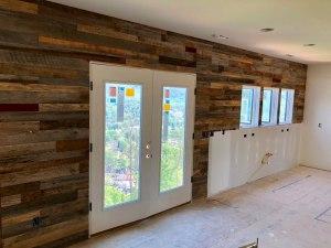Gatlinburg TN barnwood accent wall finished