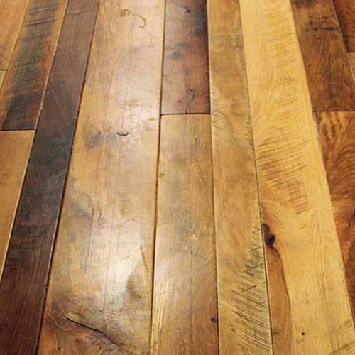 Templeton, CA Private residence – Customer chose lighter hardwoods with some contrasting boards. Pre-sanded only with micro-bevel, sanded smooth. Site finished by customer.