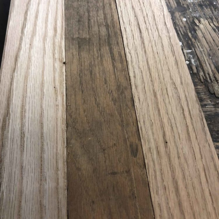 "3/4"" mixed hardwood flooring or paneling"