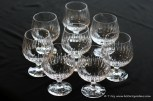 Set of 8 Atlantis Crystal brandy glasses.