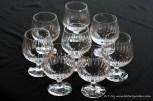 Set of 8 Atlantis Crystal brandy glasses.