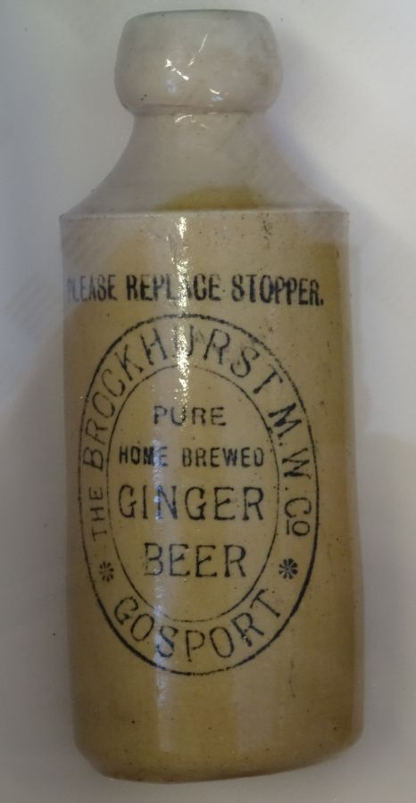 Ginger Beer Bottle Brockhurst mineral water Company