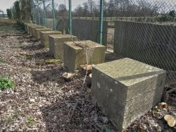 Holbrook Anti Tank blocks in 2017