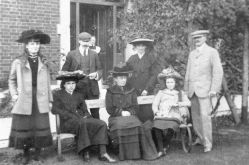 Commandant Major R.W. Andrews and his family.