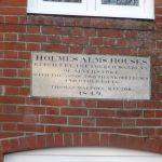 Holmes Alms Houses plaque