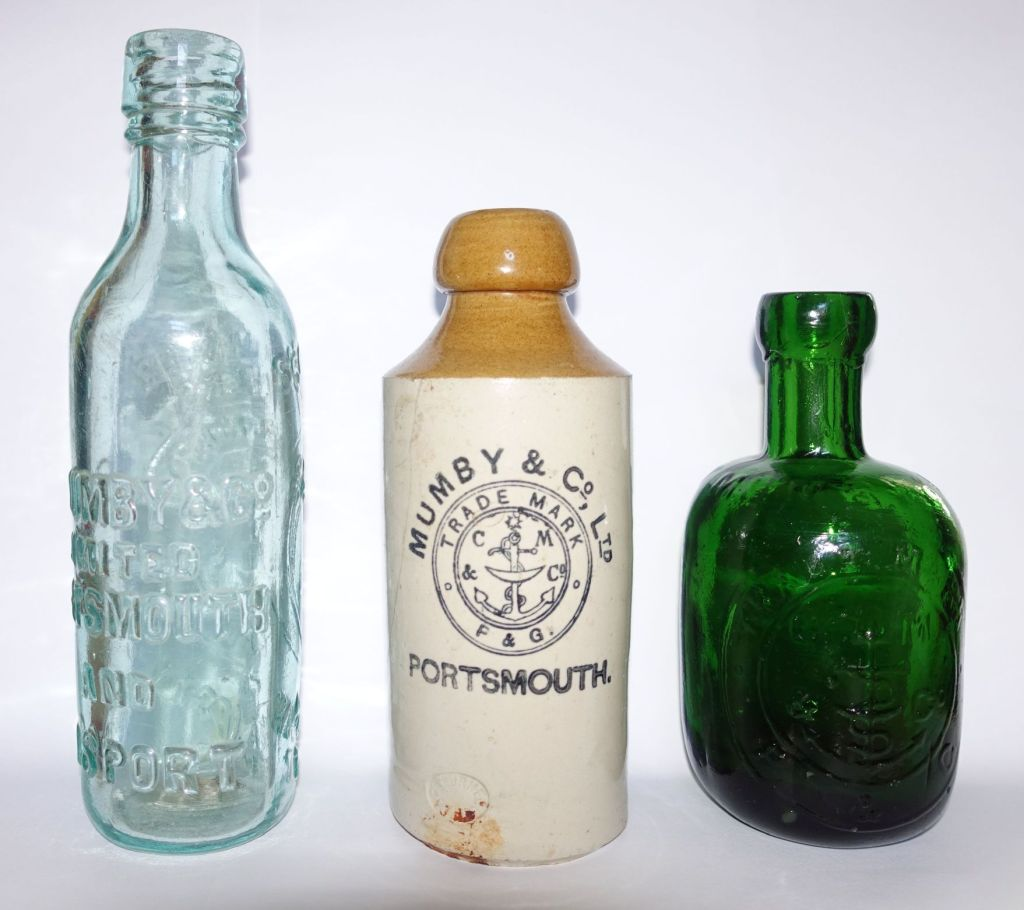 Mumby's mineral Water Company Bottles