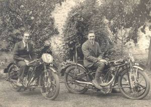 O.E.C. Motorcycles in the grounds of Forton House, Lees Lane Gosport.