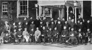 Royal Marine Light Infantry with Col.E.G.B.Byam abd Officers December 1898