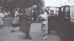 H.M. Elizabeth The Queen Mother at the opening of Bury Hall