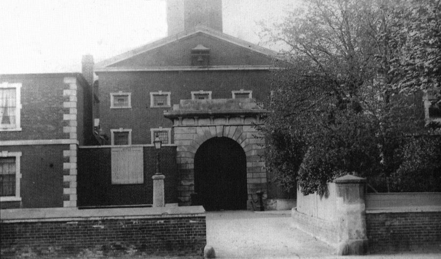 Entrance to the Detention Barracks