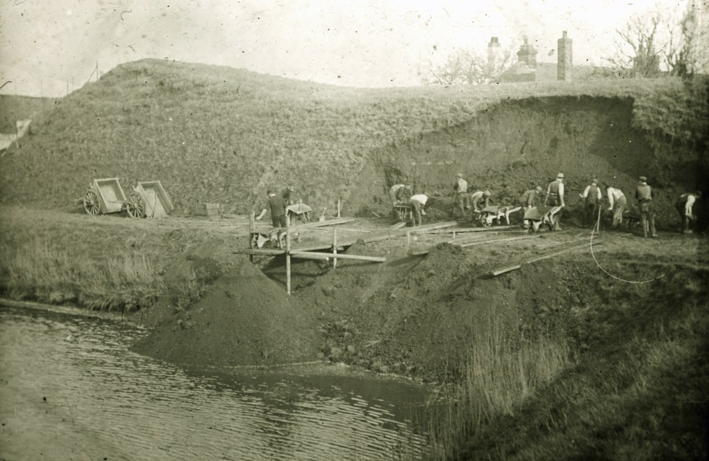 Town Ramparts being levelled in 1900.