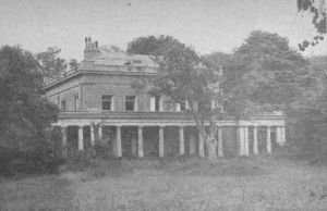 Bury Hall post WWII showing signs of damage.