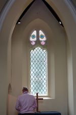 Anns Hill episcopal chapel interior east windown