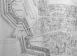 Gosport Main gate on a plan by Brian Patterson