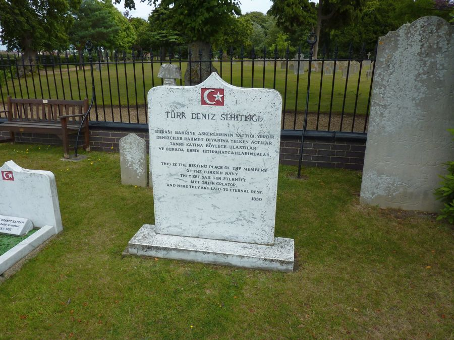 Turks memorial in Haslar graveyard