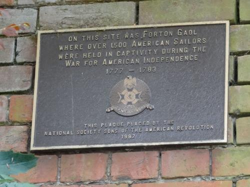 Forton Detention Barracks: Commemorative Plaque to the old prison.