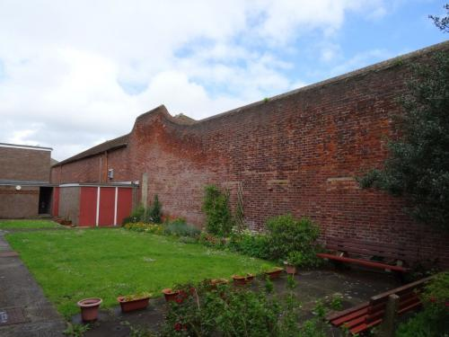 Forton Detention Barracks: The front wall from Lees Lane