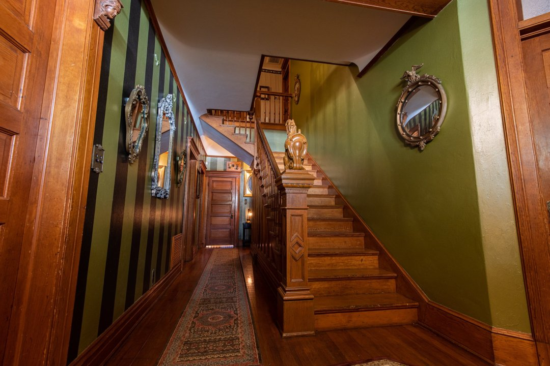 Entry, stairwell and main hallway