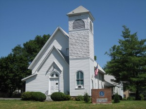 The former St. Timothy's Episcopal Church, now the home of the Herndon Masonic Lodge. Photo by Barbara Glakas.