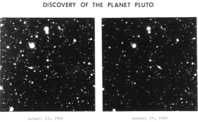 Pluto discover photos 19030, note the arrows