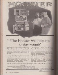 Sunday Adverts: Hoosier Kitchens, Cabinets, and