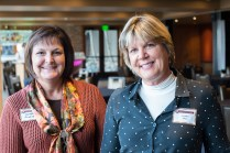 Jeffco archivist Ronda Frazier joins Boettcher Mansion director Cynthia Shaw at the 2013 Hall of Fame event. Photo by Matthew Lewis.