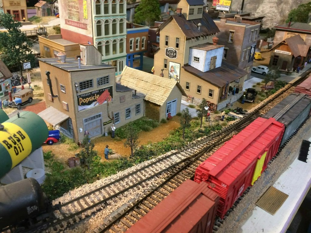 Back street model train layout