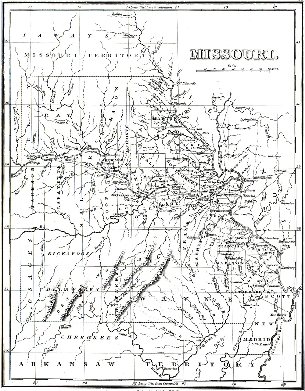 Missouri Indian Tribe Map : missouri, indian, tribe, Sacred, SHSMO, Historic, Missourians