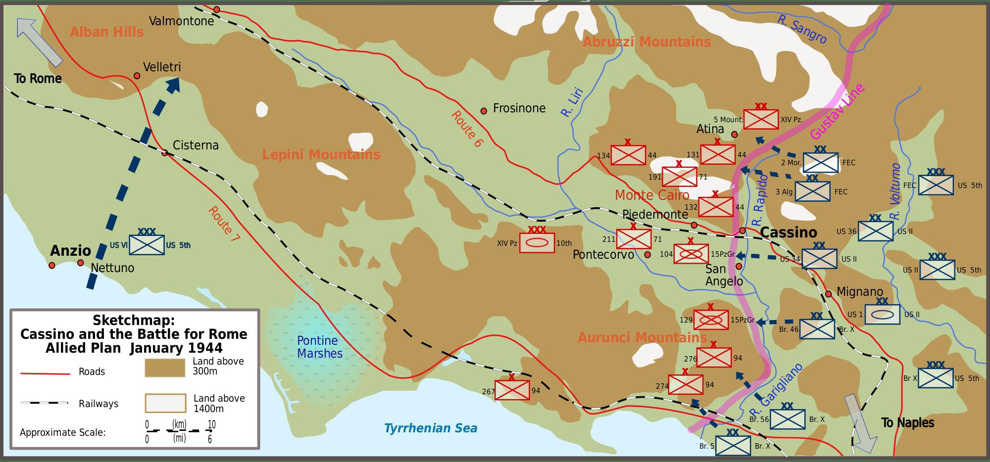 La Bataille Du Mont Cassino 1944 Historic Modelisme