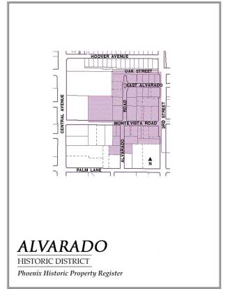 alvarado historic district,homes,for sale,map,historic,district,neighborhood,area,phoenix,arizona,alvarado