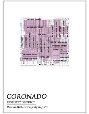 coronado historic district,map,historic,district,neighborhood,area,phoenix,arizona,coronado