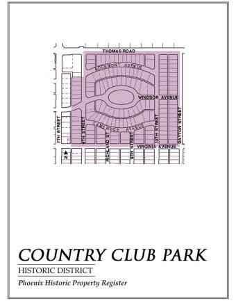 country club park,map,historic,district,neighborhood,area,phoenix,arizona