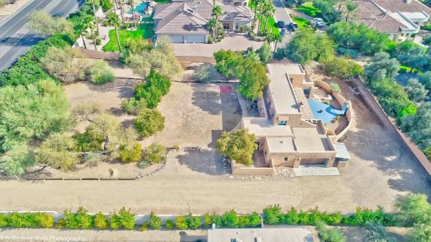 drone aerial photo,arcadia,camelback mountain,area,historical,arcadia neighborhood,pueblo revival,historic,adobe construction,real estate,phoenix