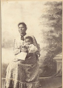 Mrs Minor and Granddaughter Mattie Green