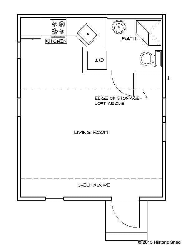 16'x20' Cottage Floor Plan