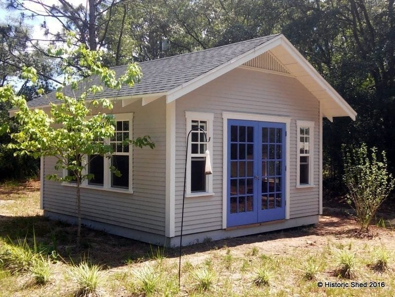 14x16 Historic Shed with multi-pane windows