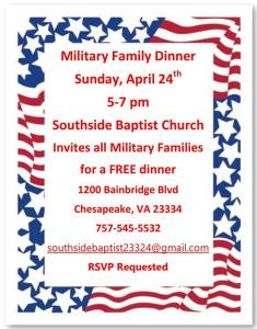 southside church military family dinner