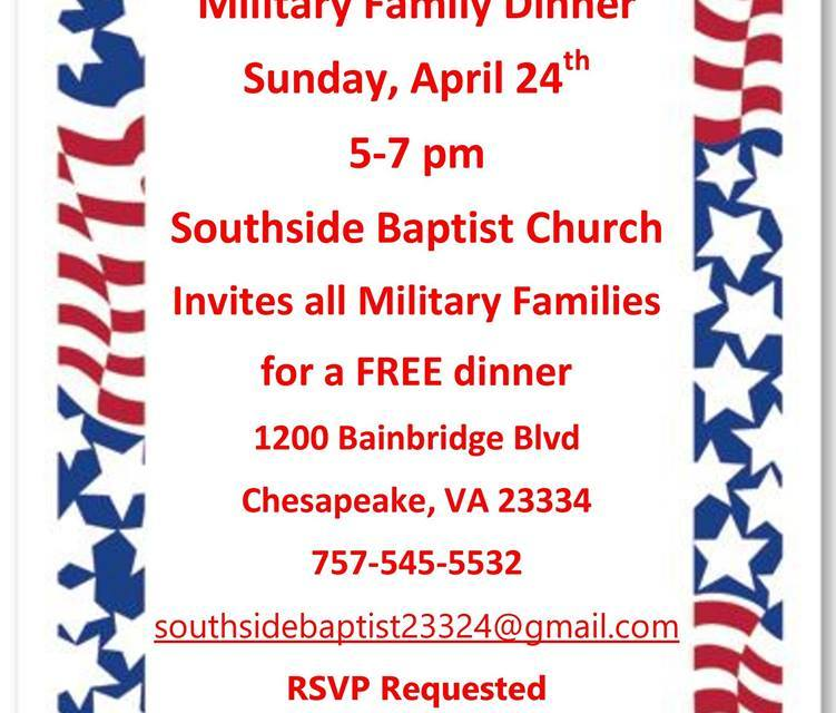 Southside Baptist hosts dinner for military families