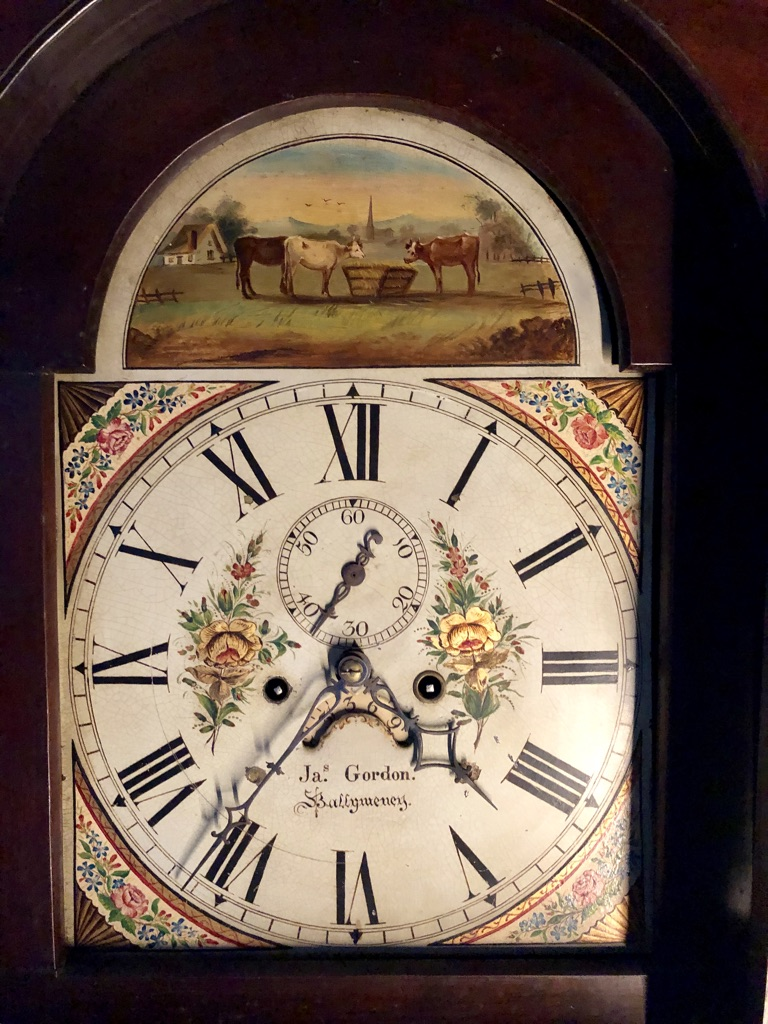 Grandfather Clock Face Close