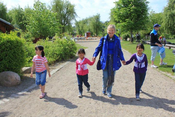 Pia Sigmund med børn
