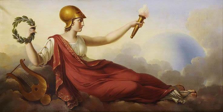 Minerva (Pallas Athena) volgens Jacques Louis Dubois